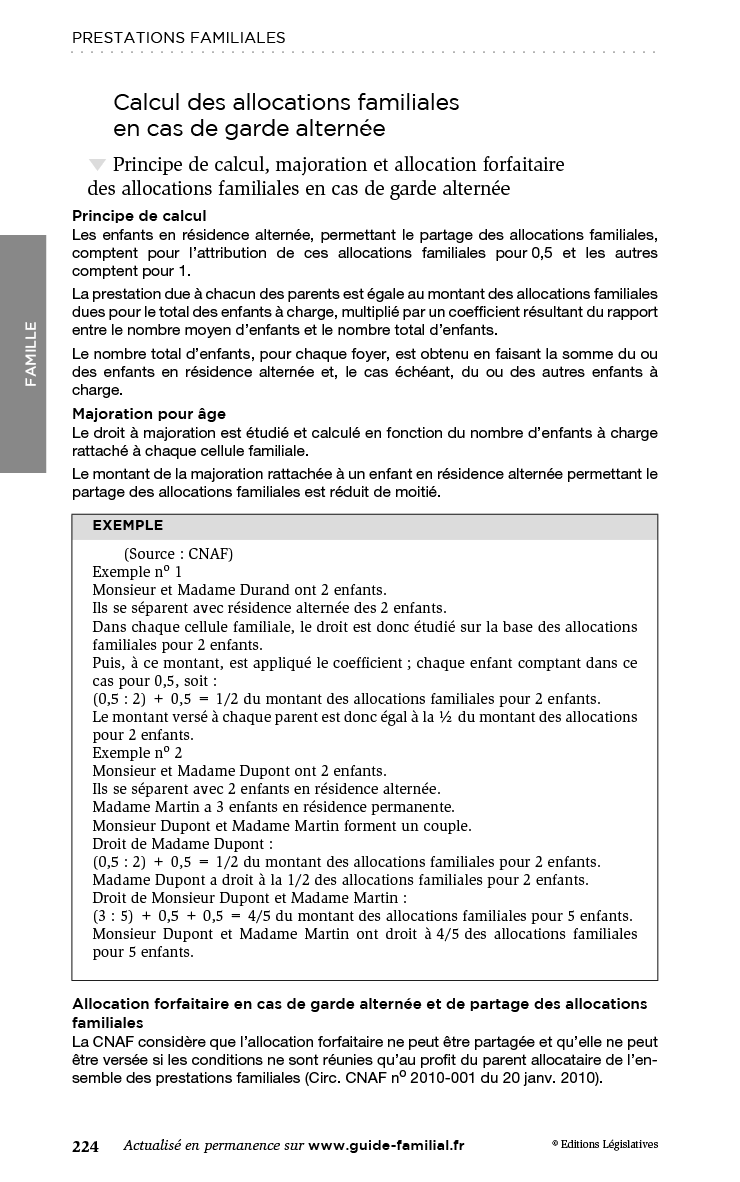 Page 224 du Guide Familial